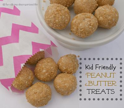 Kid Friendly Peanut Butter Treats/ {i love} my disorganized life