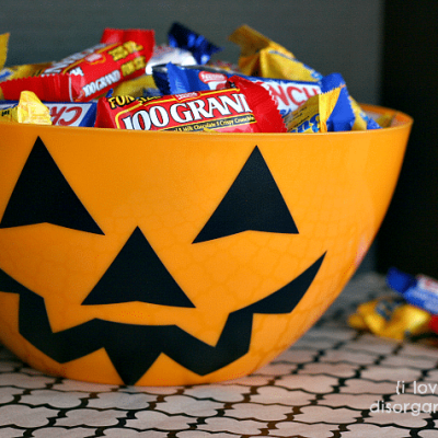 Jack o' Lantern Candy Bowl {i love} my disorganized life