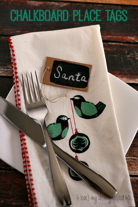 Chalkboard Place Tags - {i love} my disorganized life