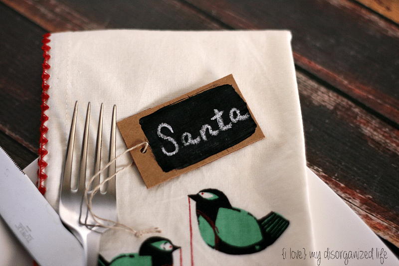 Chalkboard Place Tags {i love} my disorganized life