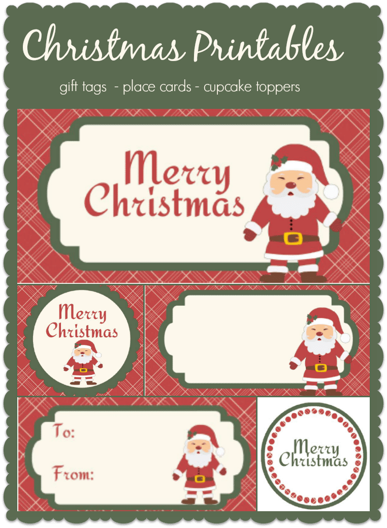 santa gift tag printables i love my disorganized life fun christmas printable tags you can use them for gifts or as place cards or