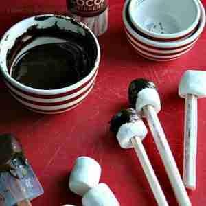 Chocolate Marshmallow Peppermint Stir Sticks