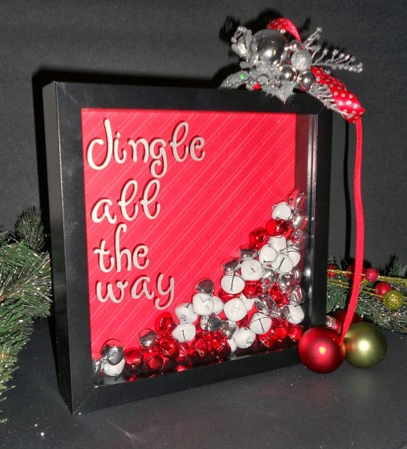 Jingle Bell Shadow Box from Crazylou on the 25 Days of Christmas {i love} my disorganized life