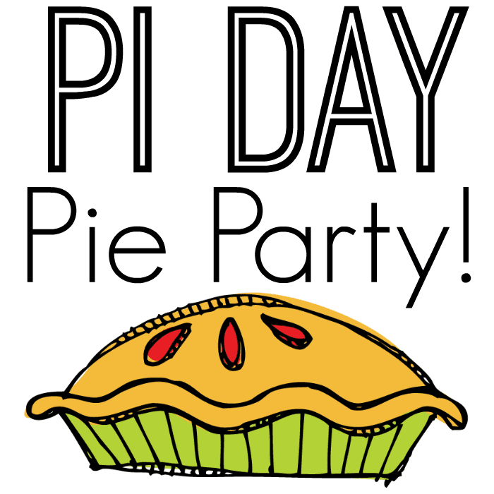 Pi Day Pie Party Graphic - Square