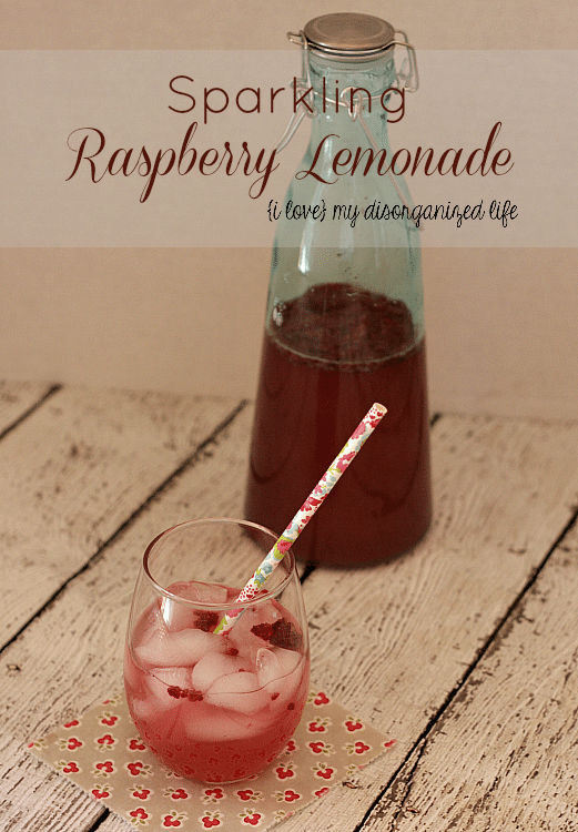 Sparkling Raspberry Lemonade is crisp and refreshing