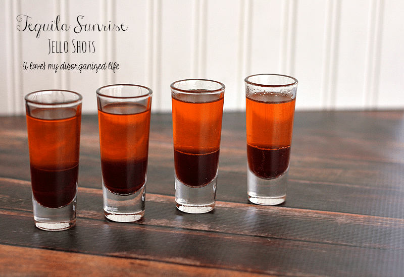 Tequila Sunrise Jello Shots - #cincodemayo