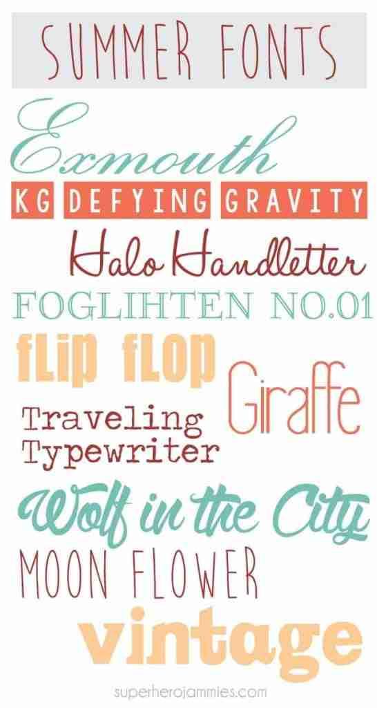 Favorite-Summer-Fonts