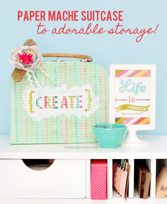 Paper-Mache-Suitcase-to-Adorable-Storage