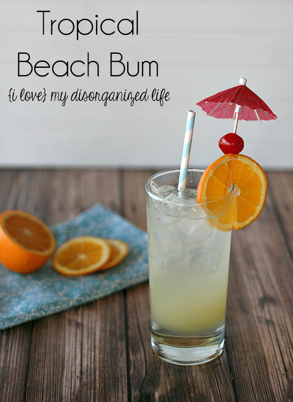 Tropical Beach Bum Cocktail - flavors of mango and orange give this drink it's tropical feel