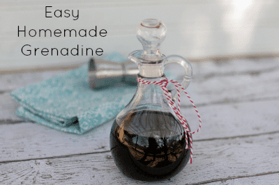 Easy Homemade Grenadine - tastes better than store bought and super ...