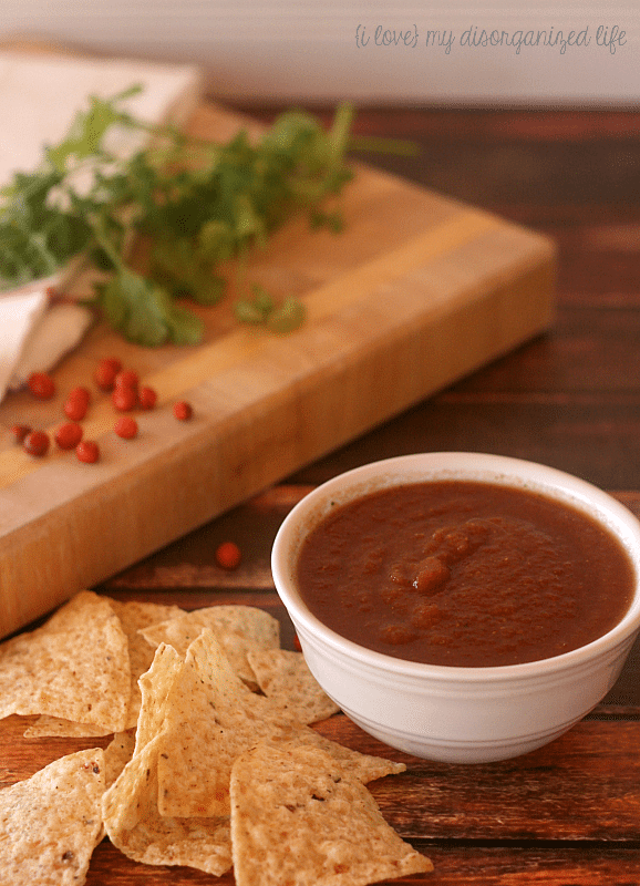 Spicy Homemade Salsa #salsa