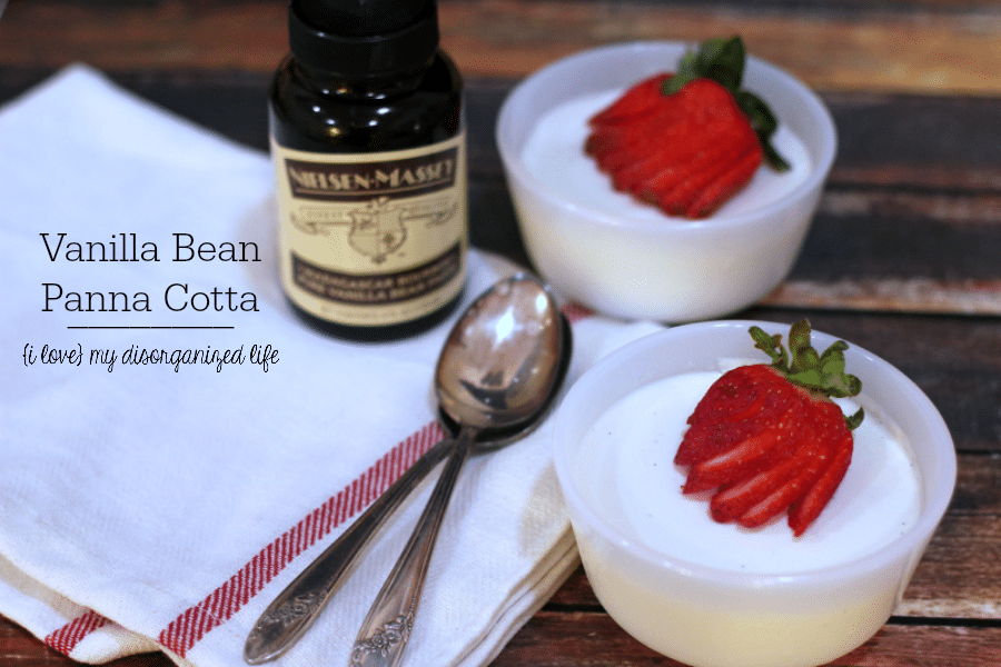Vanilla Bean Panna Cotta is a rich and creamy dessert with a smooth vanilla taste. Topped with fresh strawberries and you're walking on air!