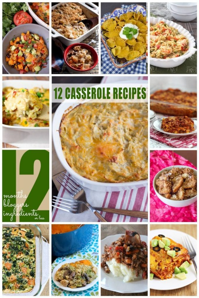 12 delicious casseroles from 12 of your favorite blogs!