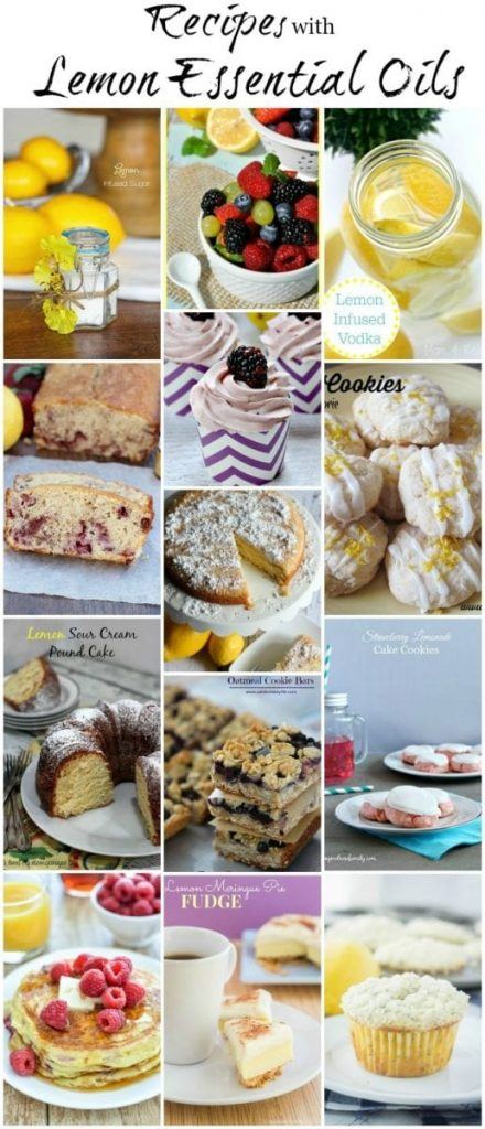 13 delicious recipes made with lemon essential oil