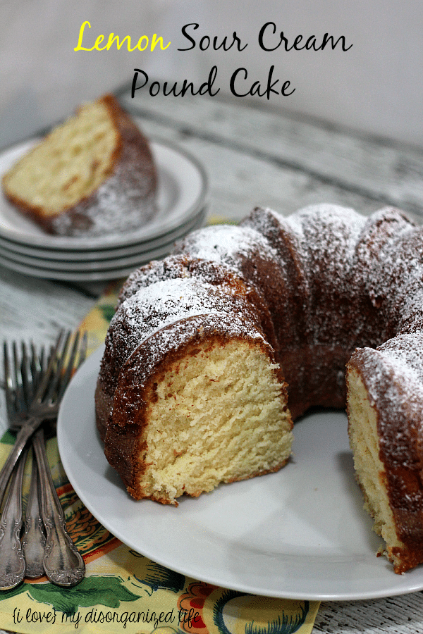 Rich lemony flavor gives life to this delicious sour cream pound cake!