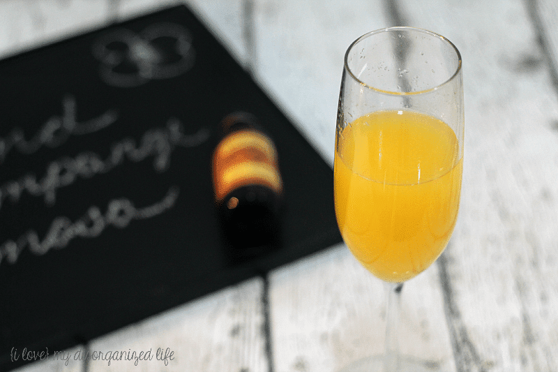 Add a special flavor to your mimosa with almond extract!