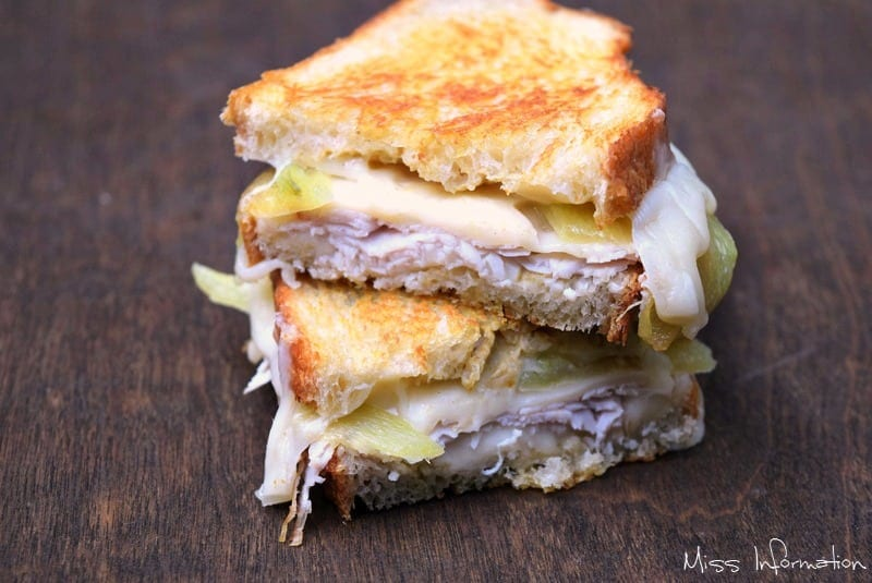 Kick up your grilled cheese with this recipe made with turkey, swiss and a roasted cowhorn pepper! It's the ultimate grilled cheese recipe