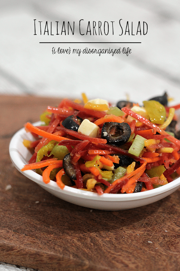 All the delicious Italian flavor of pasta salad made with gorgeous & healthy  carrot shreds!