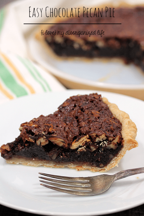 This chocolate pecan pie is a delicious twist to a favorite classic pie!