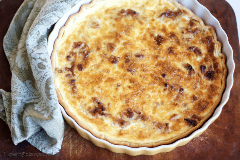 This French onion tart fills your mouth with a subtle sweetness of onions and rich, creamy texture you will not be able to resist.