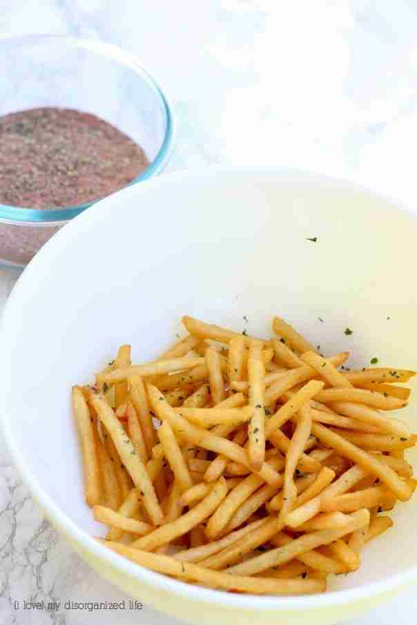 These cajun spiced fries are amazingly flavorful, and you can make them as hot as you like with this homemade cajun seasoning recipe!
