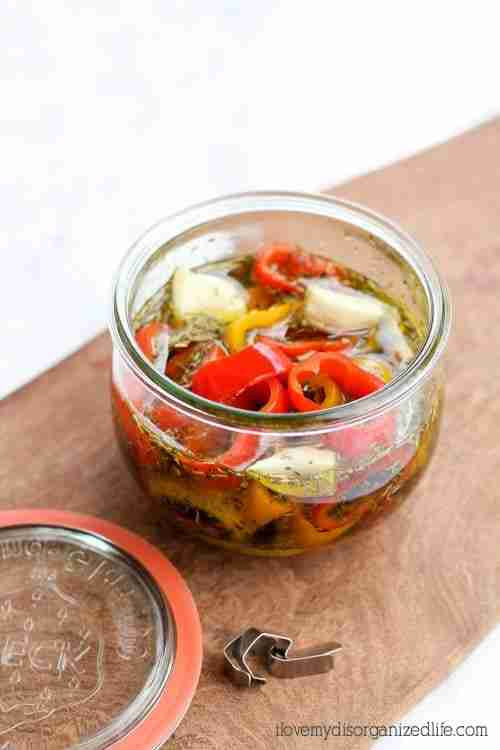 This marinated bell peppers recipe uses just a few ingredients and spices and takes mere minutes to put together. You'll love its Tangy sweet flavor!