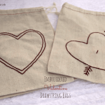{Embroidered} Valentine Drawstring Bags
