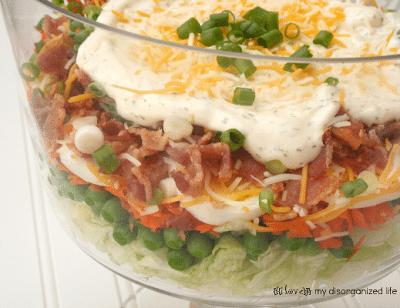 24-hour Layered Veggie Salad {i love} my disorganized life #flavorsodsummer #virtualpicnic