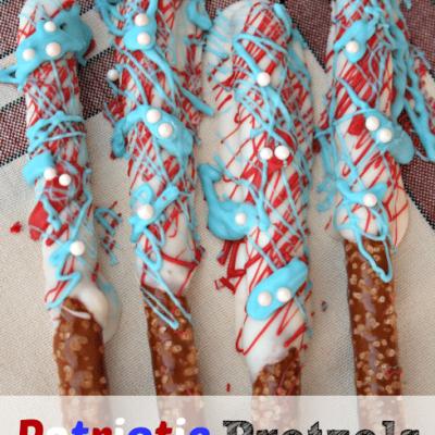 Patriotic Pretzels #patriotic #USA