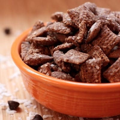 Almond Joy Puppy Chow from Cupcakes and Kale Chips