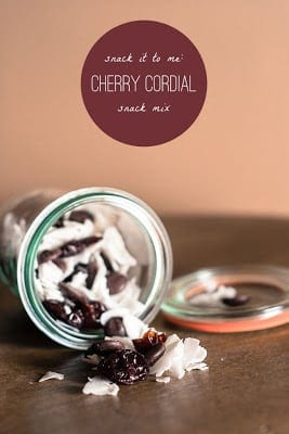 Cherry Cordial Snack Mix from FrannyCakes