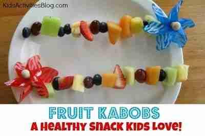 Fruit Kabobs kid-friendly snacks