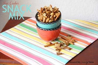 Slow Cooker Snack Mix from Around My Family Table