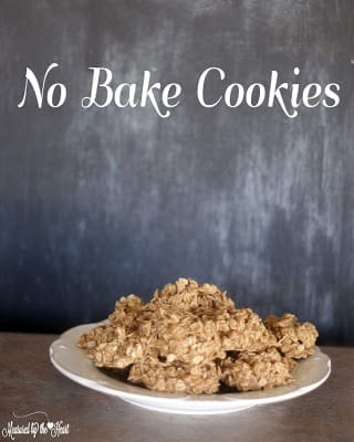 No Bake Cookieson white plate for a kid-friendly snacks