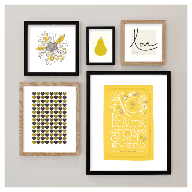 Pops of yellow by Melanie Severin, see more Minted.com