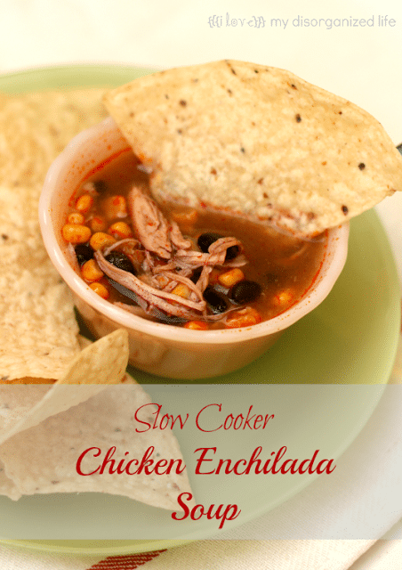 Chicken Enchilada Soup - {i love} my disorganized life