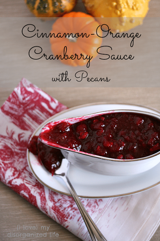 Homemade Cinnamon Orange Cranberry Sauce with Pecans- Miss Information