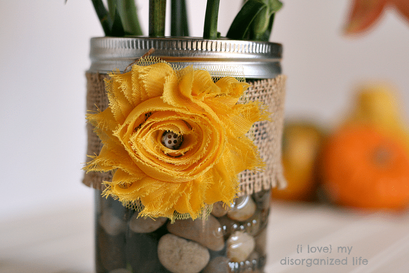 Fall Mason Jar Centerpiece {i love} my disorganized life