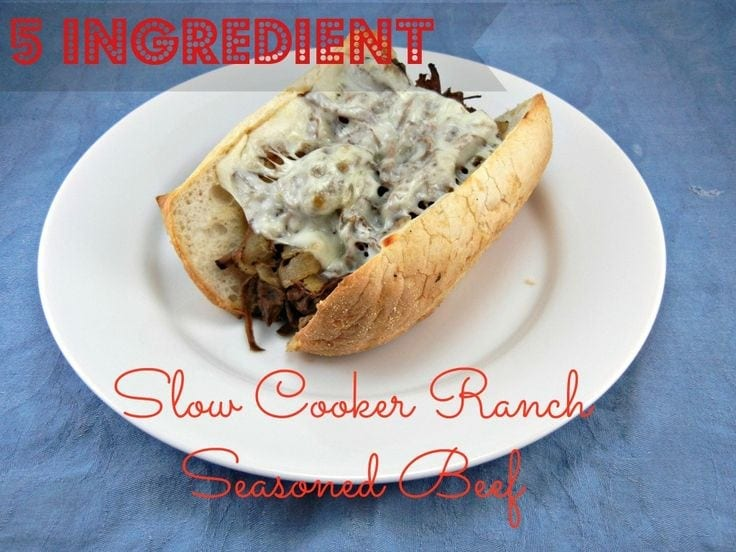 Slow Cooker Ranch Seasoned Beef