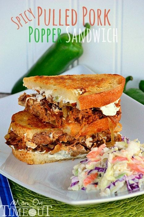Spicy Pulled Pork Popper Sandwich