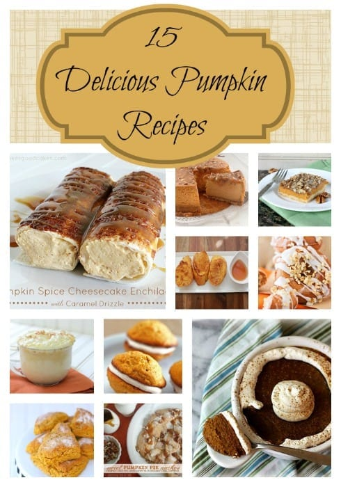 15 Delicious Pumpkin Recipes - {i love} my disorganized life