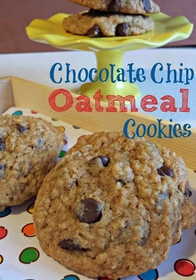 Choc Chip Oatmeal Cookies