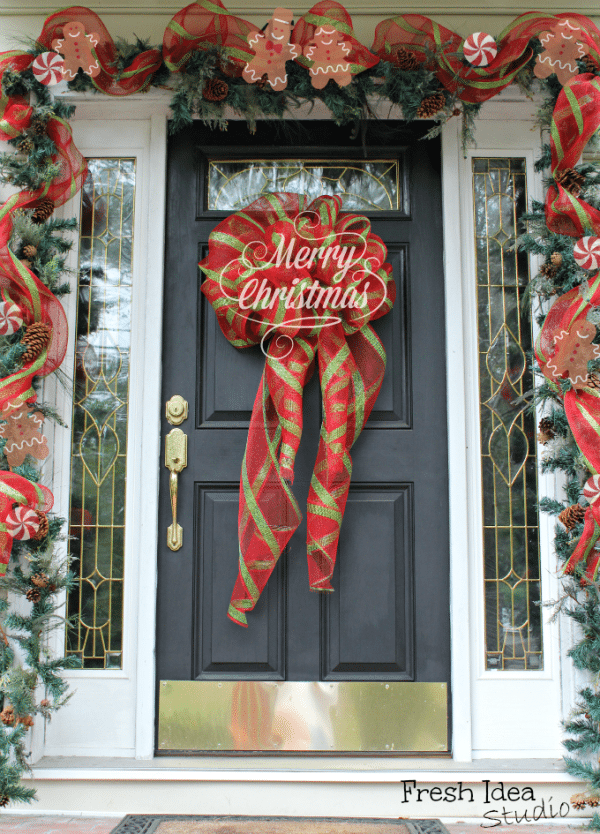 Big Bow Christmas Wreath