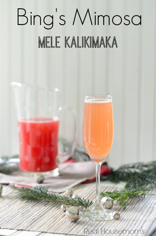 Bing's Mimosas are the perfect drink for a warm Christmas morning. The tropical flavors come together so deliciously, you're sure to have more than one!