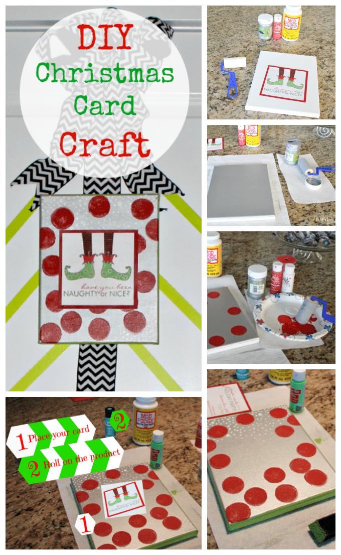 DIY Christmas Card Craft collage
