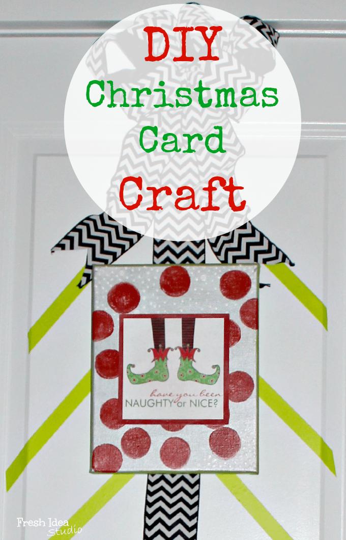 DIY Christmas Card Craft