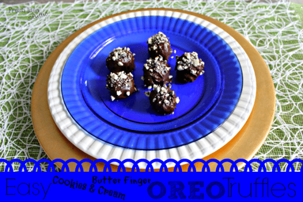 Easy Cookies and Cream Butterfinger Oreo Truffles