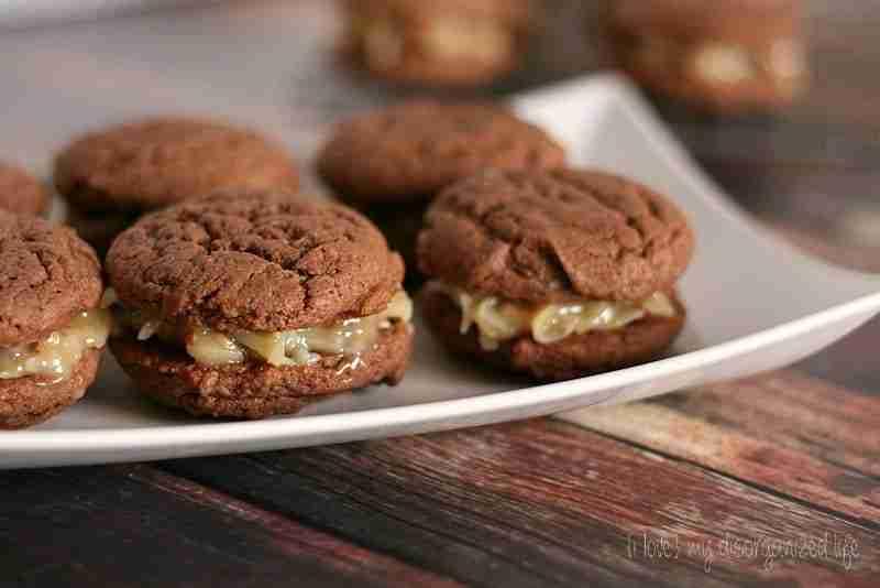 German Chocolate Cake Sandwich Cookies - {i love} my disorganized life
