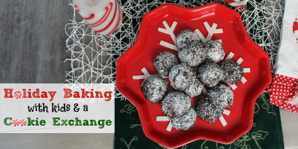 Holiday Baking with kids and a cookie exchange feature