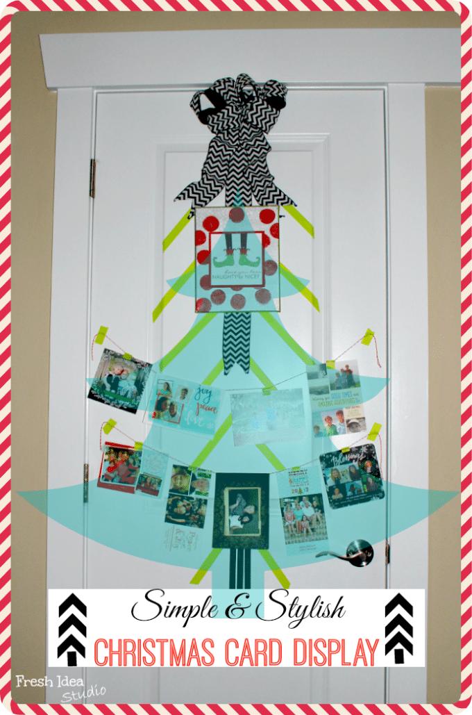 simple and stylish christmas card display